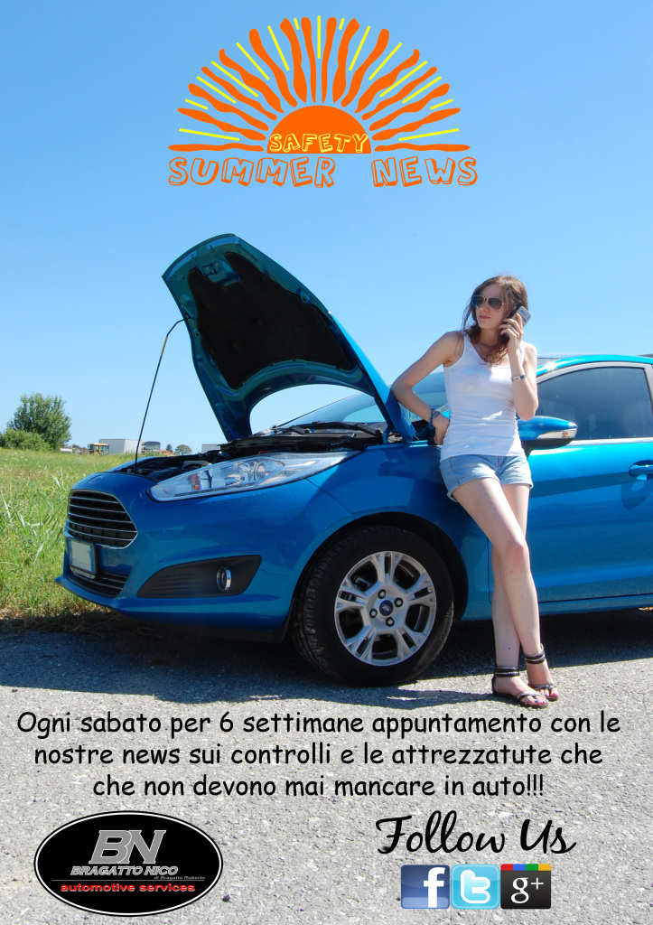 Campagna per la sicurezza stradale promossa dalla Bragatto Nico automotive services.